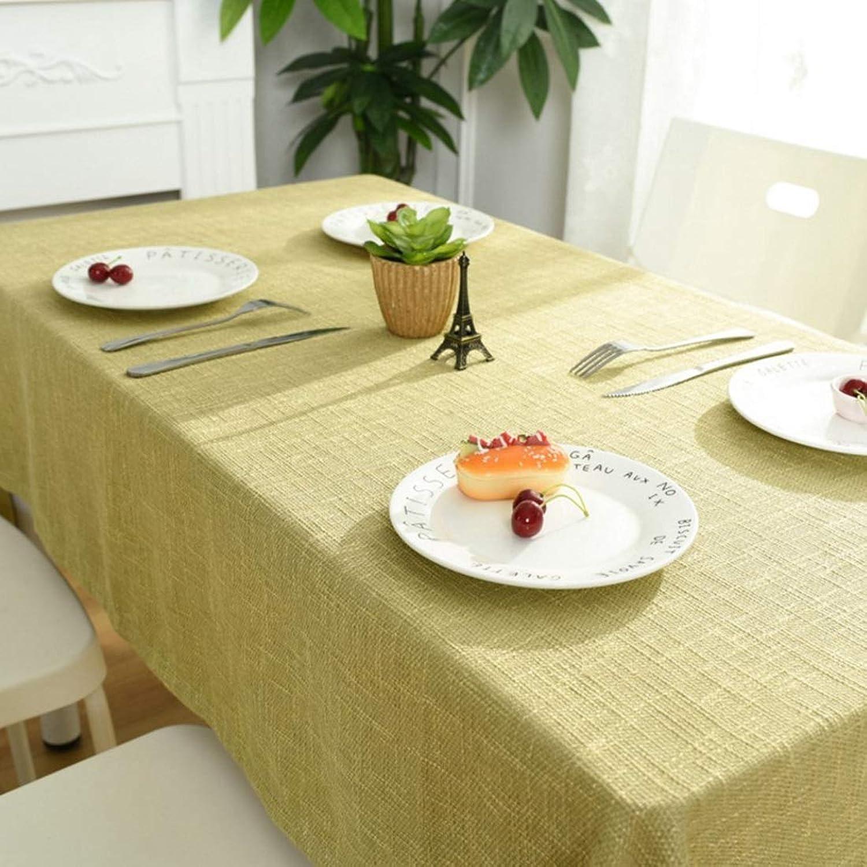 MALLTY Nappe Simple Moderne Trellis Coton Et Lin Huile-preuve Rectangle Polyvalent Tissu Art Table Basse Décoration Maison Nappe Maison Appliquer à La Maison (Couleur   jaune, Taille   130  240CM)