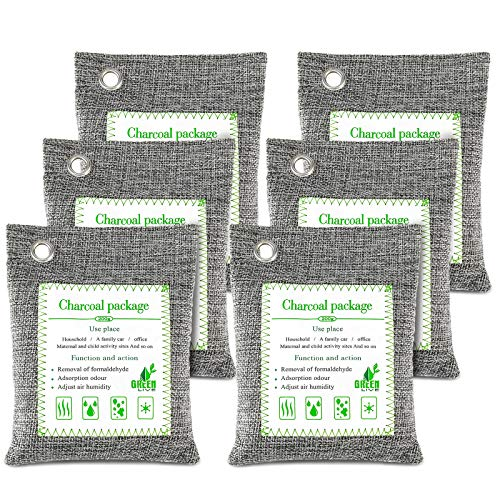 Save %7 Now! FOYO Bharcoal Bags Odor Absorber Bamboo Charcoal Air Purifying Bag(6 Pack) Activate...