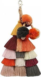 1Pc Bohemian Tassel Keychain etnische stijl sleutelhanger tas hanger mode-accessoires sleutelhanger voor vrouwen (D) De be...