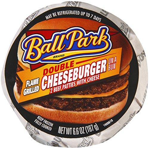 Ball Park Double Cheeseburger, 6.6 Ounce - 12 per case.
