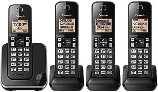 Panasonic KX-TGC384B Dect 6.0 4 Handset Landline Telephone (Renewed)