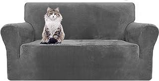 MAXIJIN Thick Velvet - Fundas de sofá de 2 plazas muy elásticas antideslizantes para salón perros gatos mascotas pe...