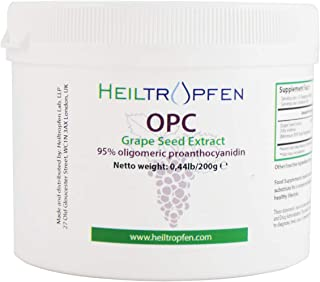 OPC Powder 0,44lb - 200g, Grape Seed Extract, 95% oligomeric proanthocyanidin. Heiltropfen®