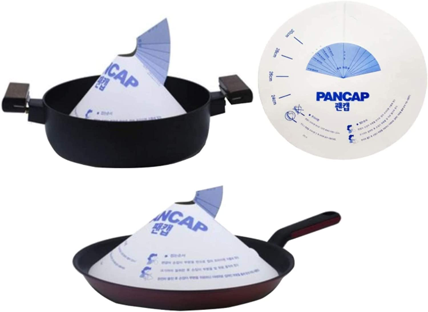PanCap 100pcs Kitchen OIL At OFFer the price Protector Paper Cap Pan for Frying