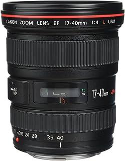 Canon EF 17-40mm F/4L USM - Objetivo para Canon (Distancia Focal 17-40mm Apertura f/4-22 Zoom óptico 2.4Xdiámetro: 77mm) Negro