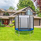 YWAWJ Trampoline Jumping-Bed with Enclosure, Recreational Trampolines Jump-Dunk for Kids Adult Bounce Outdoor, Family Backyard Safety Sports with Mat Spring Pads Steady-Ladder