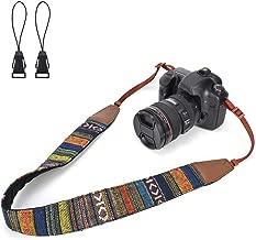 LIFEMATE Camera Shoulder Strap Belt for All DSLR Camera Multi Color Neck Belt for Canon, Nikon, Sony,Pentax, Fujifilm, and Digital Camera (Ethnic)