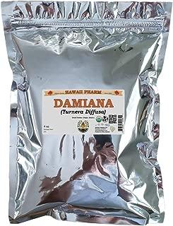 Certified Organic Damiana, Old Woman's Broom (Turnera Diffusa) Dried Powder 4 oz
