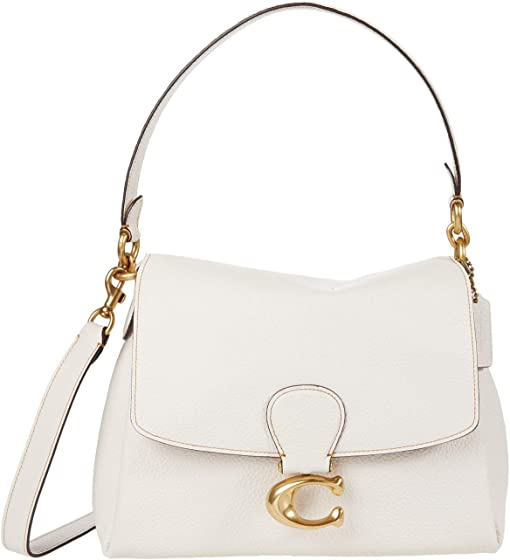 코치 소프트 메이 숄더백 COACH Soft Pebble Leather May Shoulder Bag,B4/Chalk
