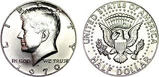 1970 D US Mint Brilliant Uncirculated Silver Kennedy Half BU
