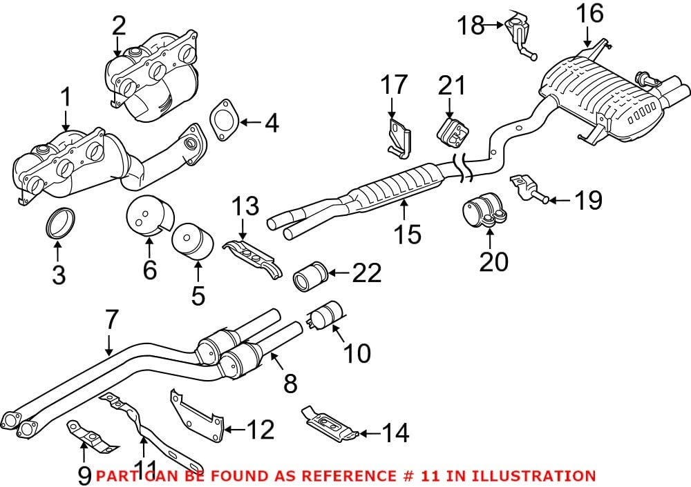 Genuine OEM Catalytic Converter Bracket Low price For Exhaust Popular popular E82 E88 BMW