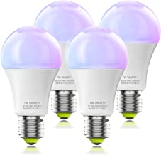 Smart Bulb No Hub Required, Dimmable Multicolor WiFi Light Bulb, A19 E27 7w (60w Equivalent) 2700k-6500k, Compatible with ...