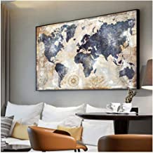 Vintage World Map Canvas Painting Printing Poster Wall Pictures For Living Room Modern Nordic Map Pictures Decoration Art-...
