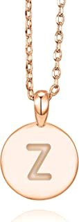 PAVOI 14K Rose Gold Plated Letter Necklace for Women | Gold Initial Necklace for Girls