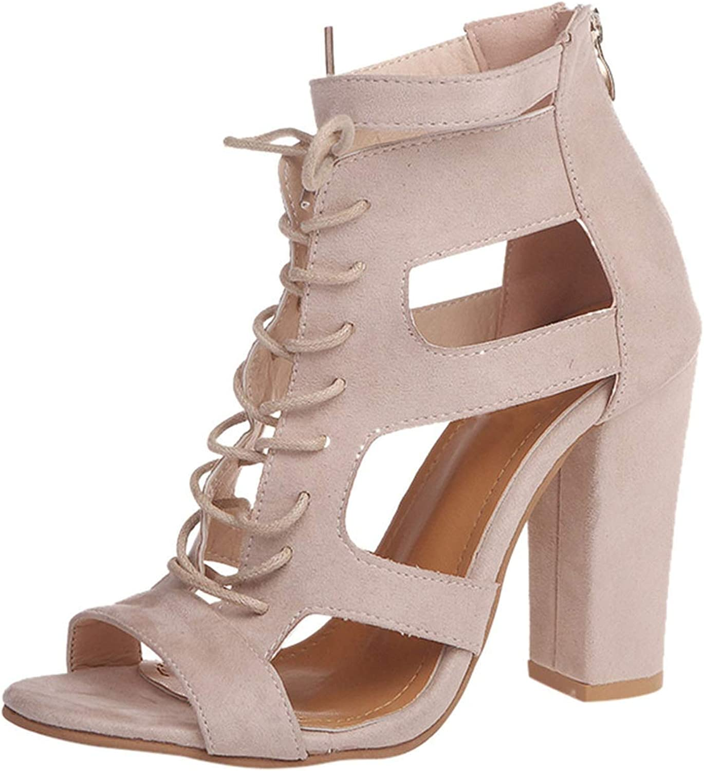 High Heels Sandals Scrub Hollow Out Cross Tied Rome shoes Super Heel shoes