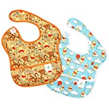 Babero Bumkins SuperBib impermeable (6a24meses) Winnie the Pooh, Woods/Balloons Talla:Each bib measures approximately 10' across, 9' from neck down