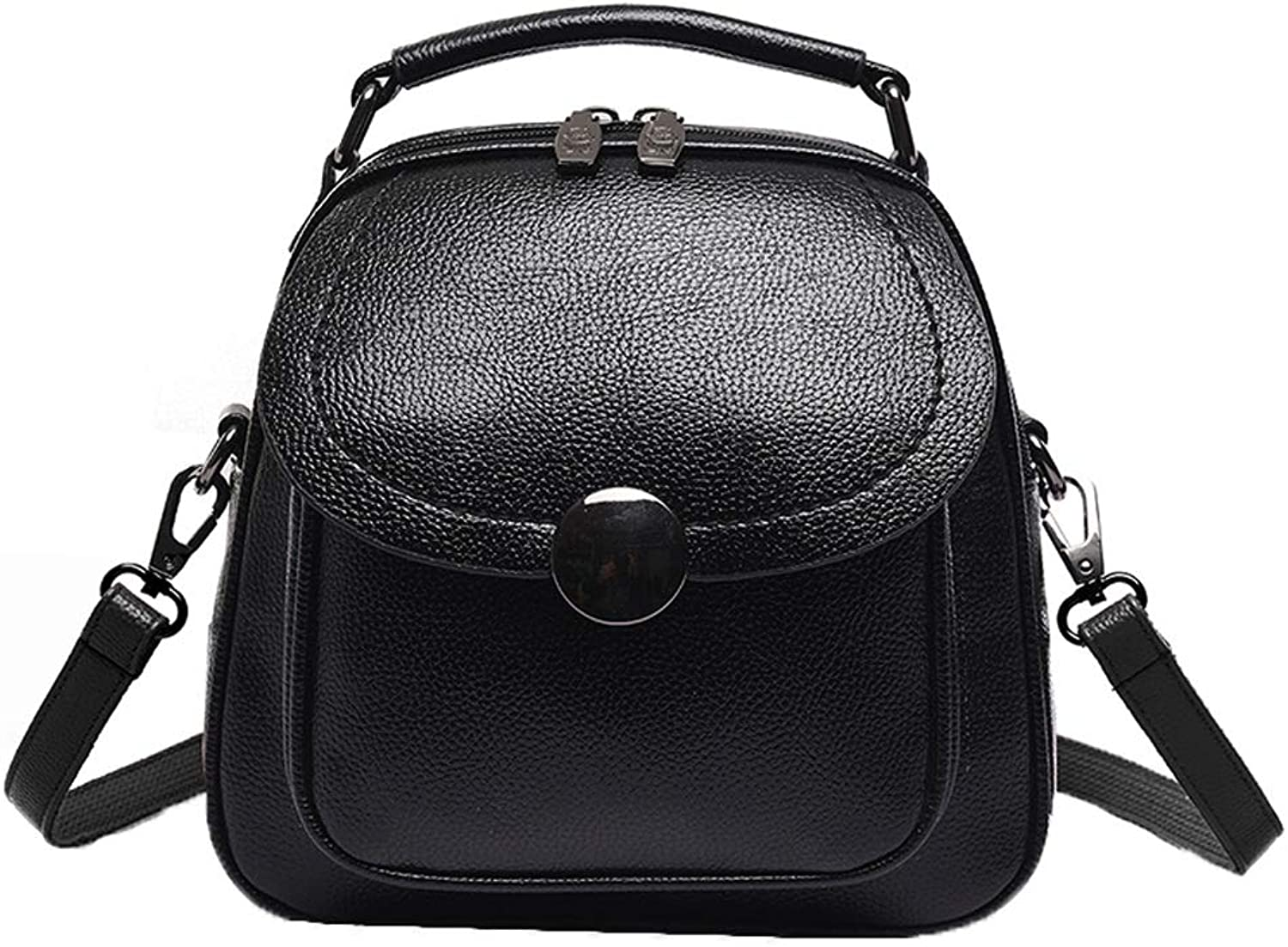 Backpack Handbags New, Versatile Fashion Girl Small Backpack Bag Leisure Travel Bag, Notebook Bag (color   Black, Size   23cm13cm22.5cm)