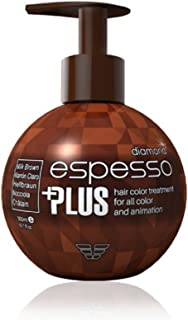 Hair Manicure Polish Color ESPESSO PLUS 300ml Diamond Powder MILK BROWN Coating