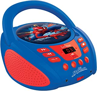 Lexibook Marvel Spider-Man Peter Parker CD Player, AUX-in Jack, AC or Battery-Operated, Blue/Red, RCD108SP_10