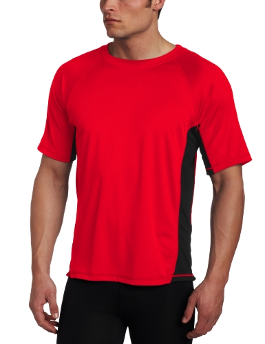 Kanu Surf Men's CB Rashguard UPF 50+ Swim Shirts (Regular & Extended Sizes), Red, XX-Large
