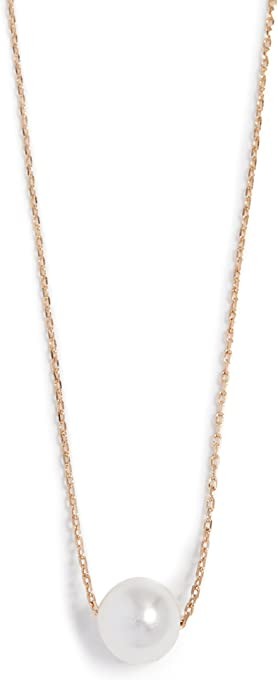 Theia Jewelry Women's Petite Swarovski Imitation Pearl Necklace