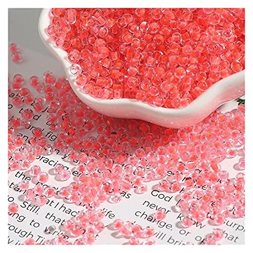 MURUI WSA1 3mm 500 stücke Mix Farbe Kleine tschechische Kristallglas Samen Perlen Lose Spacer Perlen Für Kinder DIY Schmuckherstellung Zubehör Yc0329 (Color : Orange Red, Item Diameter : 3mm 500pcs)