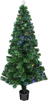 Amazon Com Northlight Pre Lit Color Changing Fiber Optic Christmas Tree With Star Tree Topper 4 Home Kitchen