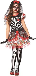 Day of Dead Skeleton Girl Kids Costume