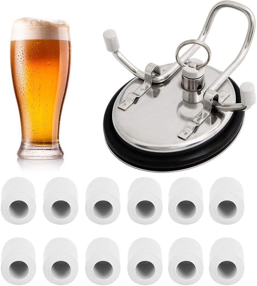 12 Pcs Keg Lid Feet, Plastic Keg Lid Feet Portable Replacement for Homebrew Beer Keg Parts Kegging Home Brewed Hardware Tool
