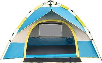 Joochoo Outdoors Tent, Instant Automatic Pop-up Design Waterproof Camping Equipment, Anti-UV Windproof Rainproof ,for Trav...