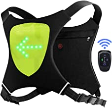 ECEEN LED Flashing Vest and Cycling Stop Light - Double Visible Front and Rear Jacket - Cordless and Rechargeable - Ideal ...