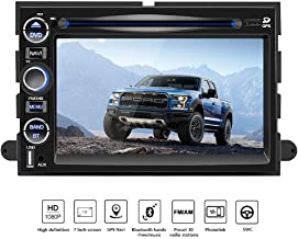 Double Din Car Navigation Stereo Radio,7 Inch HD Radio GPS Touch Screen Bluetooth FM Radio for Ford, Mirror Link, Steering Wheel Control, CD, USB Stick and MicroSD Memory Card F150
