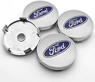 4Pcs Car Hub Center Cover, Aluminum Trim Badge Dust Tuning Covers 3D Emblems Alloy Wheel Centre Caps 60MM Universal Hub Ca...