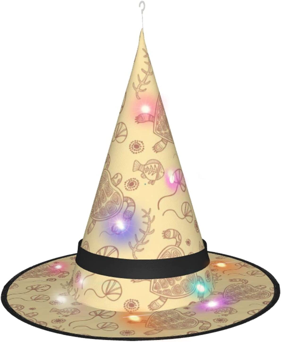 AJUNJUNPAI Beige Turtle Halloween Hat Max 51% OFF New products world's highest quality popular Colourful Interest Glowing