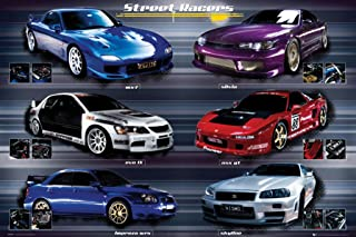 Street Racers Sports Car Easton Chang Photography Hobby Poster Print 24x36