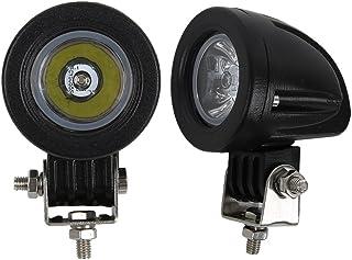 Audak 2Pcs 10W Spot Mini LED Work Light 2 Inch Round LED Driving Lights Fog Lights for Motorcycle Motorbike Bike Dirt Bike...