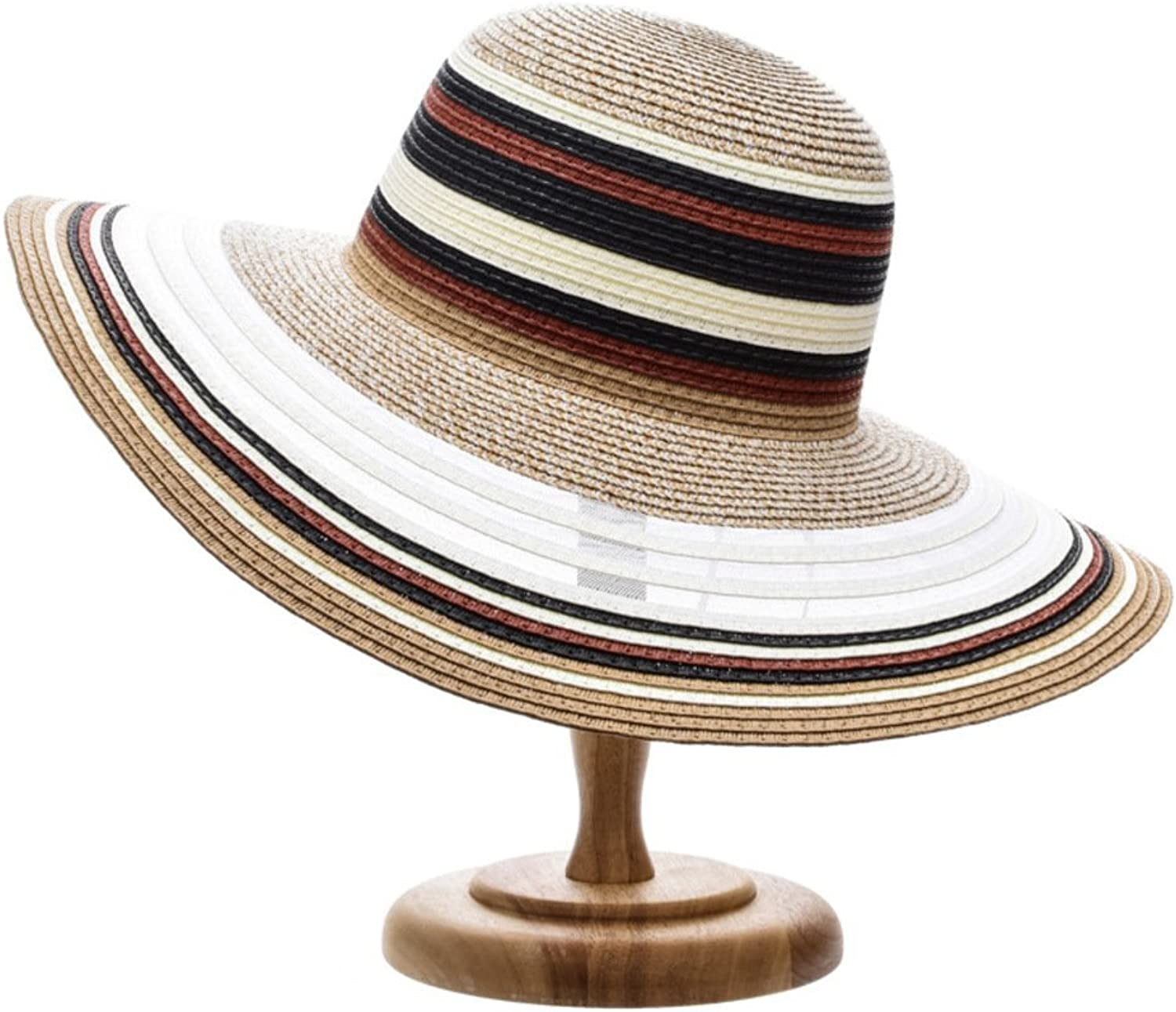 XiongDaDa Sun Hat for Women,Straw Hat Ladies Beach Hats Striscia Assorted colors Weave