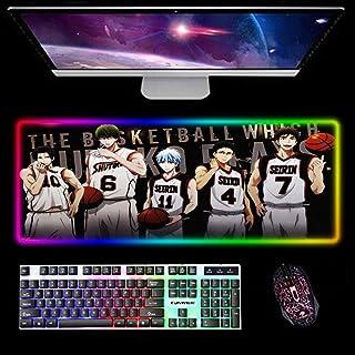 Gaming Muismatten Kuroko's Basketbal RGB Gaming Muismat Zachte Antislip Rubber Base Laptop Toetsenbord Mat Cool Grote Uitg...