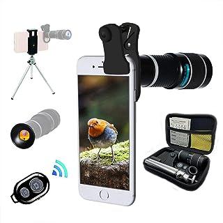 Lente Cámara Teléfono Teleobjetivo Zoom 20X Universal Trípode Telescopio Monocular Adecuado Para Casi El 98% De Teléfonos Inteligentes En El Mercado IPhone Compatible Samsung