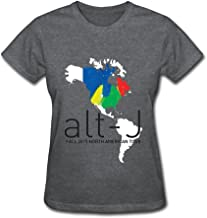 RZF Women's Alt J Fall 2015 North American Tour T-Shirt-S DeepHeather