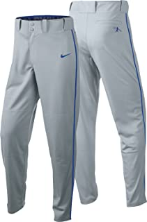 Boys Swingman Dri-FIT Piped Baseball Pants (Grey/Royal, X-Large)