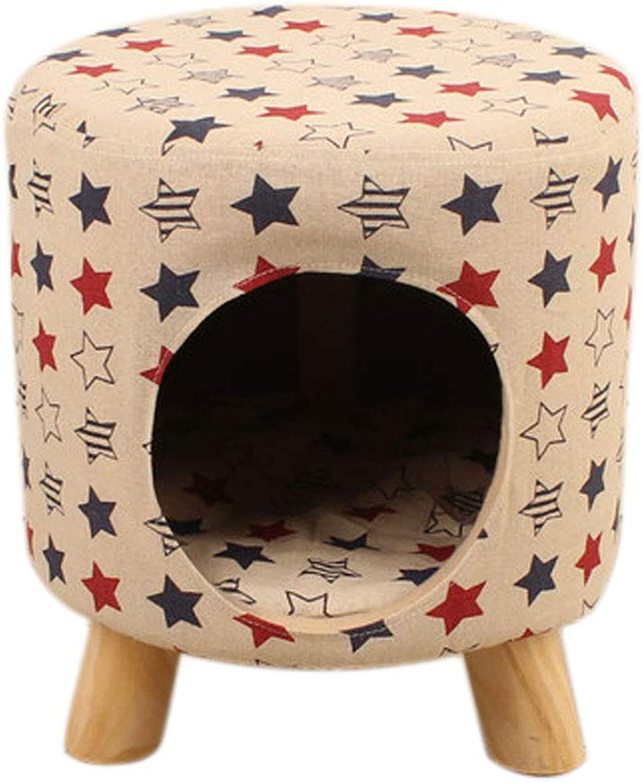 HJYcWW Puppy Nest Small Dog Cat Litter Pet Supply Cat Nest Than Bear Nest Rimable Dog House Autumn and Winter Creative Stool Nest