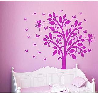 Superbe Finloveg Fée Stickers Muraux Papillon Vinyle Arbre Autocollant Branche  Fenêtre Enfants Pépinière Chambre Décor À La