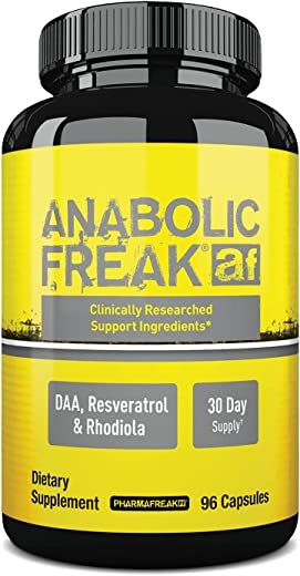 PharmaFreak Anabolic Freak #1 Selling & Top Rated Testosterone Booster - 96 Capsules - Estrogen & Cortisol Inhibitor - Bodybuilding - Workout - Sports Nutrition Supplement Increased Sex Drive & Libido