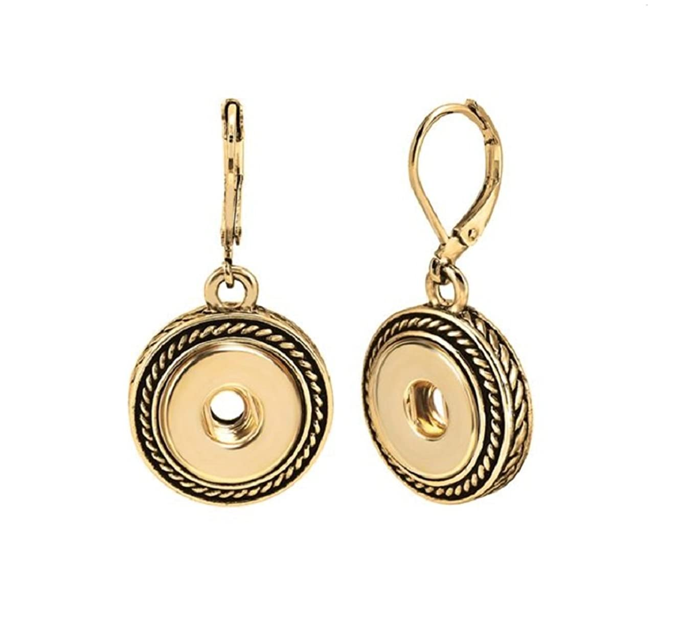 Ginger Snaps PETITE (Simulated) Gold Rope Earrings GP95-02 Interchangeable Jewelry
