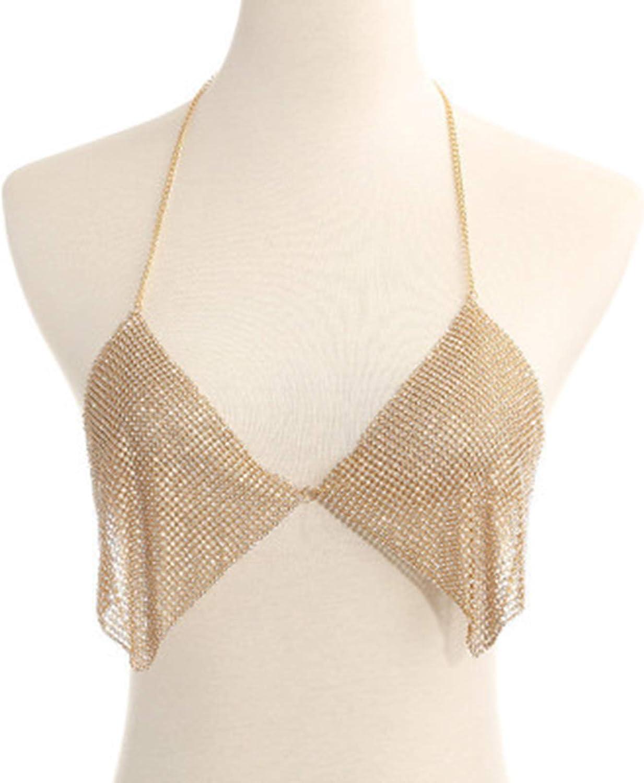 LQG Body Chain Bra Sexy Women Mail order Camisole Overseas parallel import regular item Rhinestone for