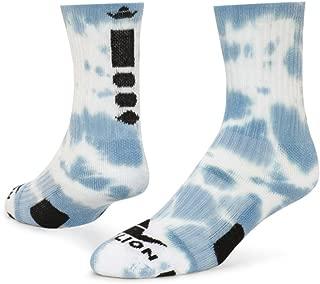 RedLion Maxim Tie Dye Athletic Socks (Light Blue/White - Medium)