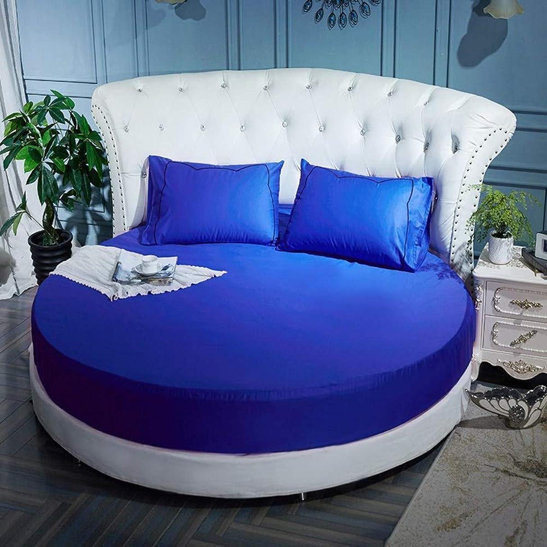 最後のパースブラックボロウ年金コットン ラウンド ベッド スカート,単色 ラウンド ベッド エキストラ ベッド,ベッド シート ベッド カバー 簡単なケア ほこりしわ ベッド カバー シート-J