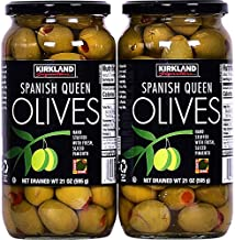 Kirkland Signature Spanish Queen Olives Hand-Stuffed with Fresh Pimiento - 2 Jars (21 oz.)