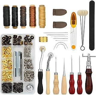 Kit de Gravure sur Cuir Outils D'artisanat Ensemble D'outils en Cuir Ensemble De 28 Pièces Outils De Couture DIY en Cuir F...